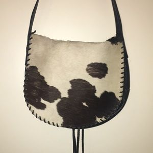 Cowhide leather purse